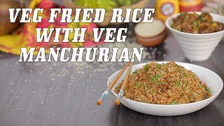 Street Style Veg Fried Rice & Veg Manchurian Recipe By Neha Mathur | Street Style Chinese Food Recipes