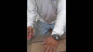 How to cut hip and ridge cap shingles