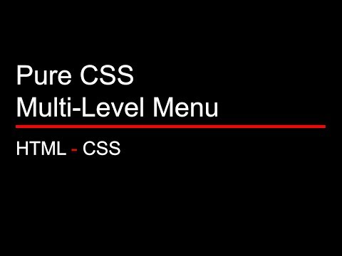 Easy Multi-Level Dropdown Menu Tutorial - Using Only CSS (With