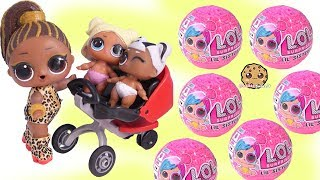 Big Sister Baby Stroller ! LOL Surprise Lil Sister Blind Bag + Color Change
