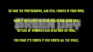 Green Day - Good Riddance (Time of Your Life) — Karaoke (Instrumental)
