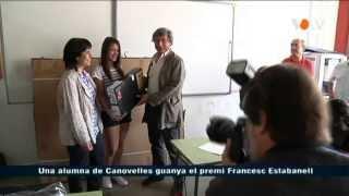 preview picture of video 'Lliurament del Premi Estabanell i Demestre a Helena Díaz, alumna de Canovelles'