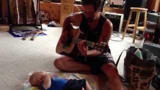 "Baby Sitter 101 in Martin Strat Ville Eddie Vegas Playing Aaron Lewis ""Tangled Up In You"""