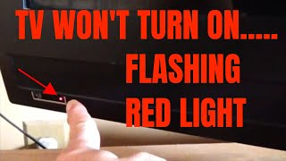How To Reset Plasma TV With Flashing RED LIGHT