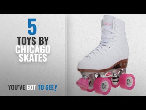 Top 10 Chicago Skates Toys [2018]: Chicago Women's Classic Roller Skates – White Rink Skates -