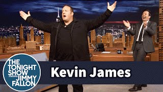 Kevin James Demonstrates His Physical Comedy Skills with a Pratfall Entrance