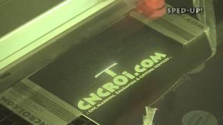 CNCROi.com: Laser Engraving Black / White Laminate