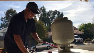 Easiest and Safest way to refill 1 pound propane bottle
