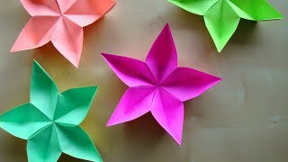 origami blume falten diy blumen basteln mit papier bastelideen bl te geschenk basteln mit. Black Bedroom Furniture Sets. Home Design Ideas
