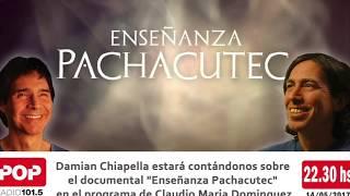 """Presentación del Documental """"Enseñanza Pachacutec"""" en el programa de radio de Claudio Marí"""