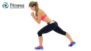 Bodyweight Cardio Workout - 23 Minute At Home Interval Cardio Training by FitnessBlender