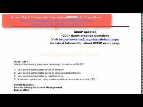 CISSP Exam practice Questions - YouTube