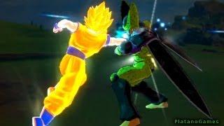 Dragon Ball Z Kai - Cell vs Goku - Full Fight - Cell Games - Raging Blast 2 - HD