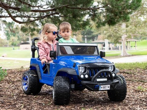 KIDS CAR  TWO SEATER EXPLORER 12V KIDS RIDE ON CAR TRUCK WITH RC PARENTAL REMOTE