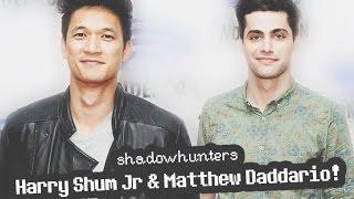 Harry Shum Jr & Matthew Daddario Shadowhunters at Wondercon 2016