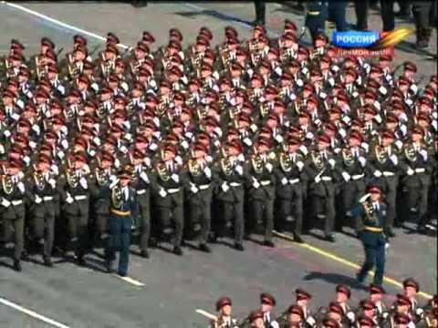 Военный парадпосвящённый 65-й годовщине Победы 2010г