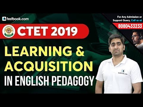 Learning and Acquisition in English Pedagogy   Based on CTET Syllabus 2019   Nitin Sir