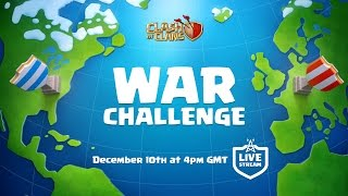 Clash of Clans War Challenge - LIVE