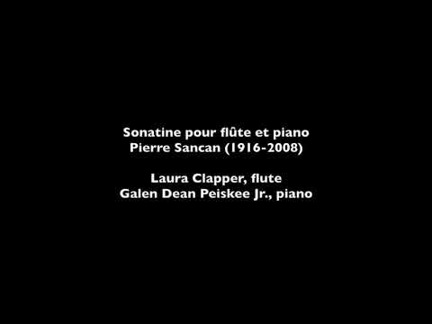 Pierre Sancan, Sonatine for flute and piano
