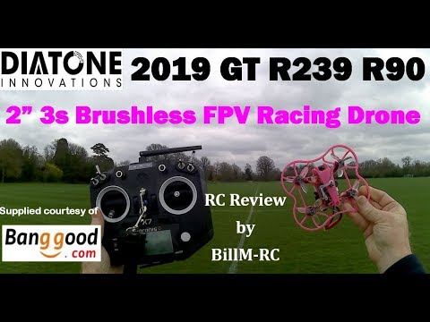 Diatone 2019 GT R239 R90 review - FPV view video clip
