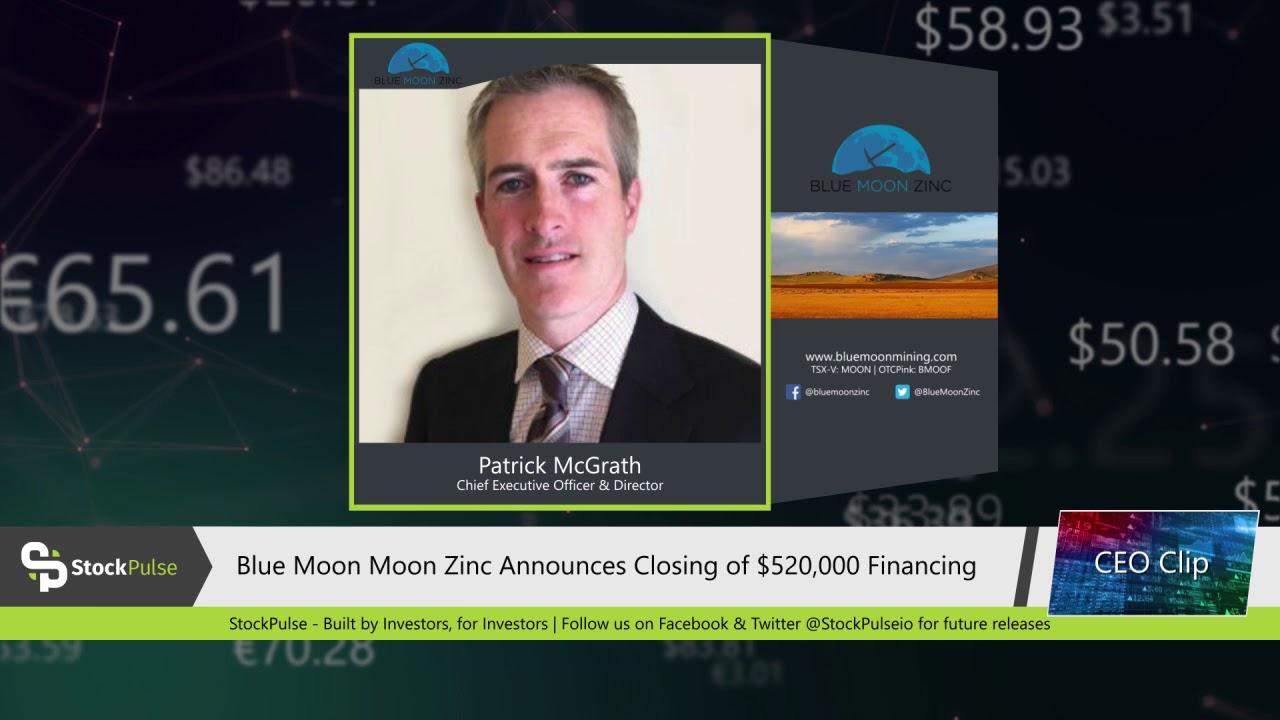 Blue Moon Moon Zinc Announces Closing of $520,000 Financing