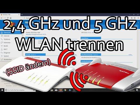 Fritzbox 2.4GHz und 5GHz WLAN trennen (SSID ändern)