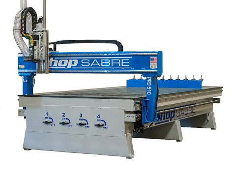 ShopSabre CNC PRO Series Walk Around with Routerbobvideo thumb