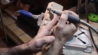 Carving Simple Woodspirit With Basic Dremel Accessories