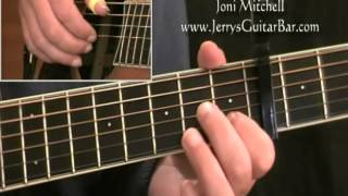 How To Play Joni Mitchell The Circle Game (intro only)