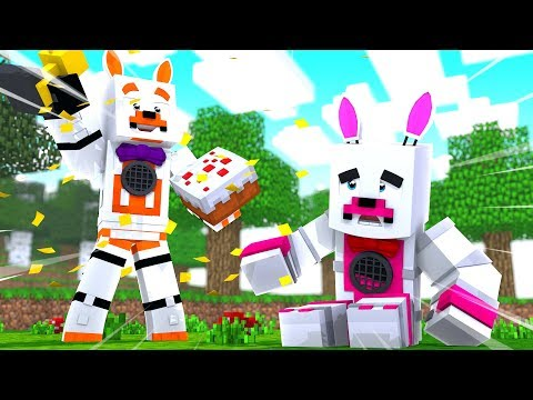 Lolbit Wins But Funtime Foxy Loses Party Games (Minecraft Fnaf Roleplay Adventure)
