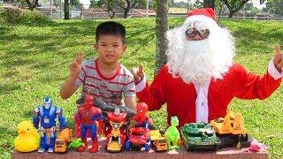 Trò Chơi Ông Già Noel Đi Săn Quà Giáng Sinh Tặng Các Bé ❤ Surich ToysReview ❤ Đồ Chơi Trẻ Em Noel