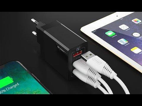 Зарядное устройство Essager Quick Charge 3.0 30 Вт на 3 USB