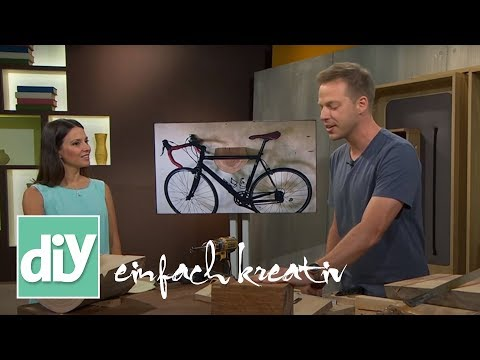 Fahrradhalterung für die Wand   DIY einfach kreativ