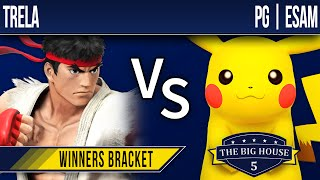 TBH5 Smash 4 - Trela (Ryu) vs PG | ESAM (Pikachu) - Winners Bracket