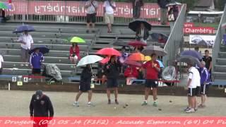 preview picture of video 'Finales France Quadrettes et Triples, Sport Boules, Chambéry 2014'
