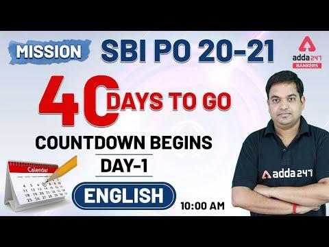 MISSION SBI PO 2020-21   SBI PO English 40 Days Preparation ...