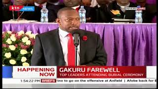 Mike Sonko eulogizes the late Governor Wahome Gakuru