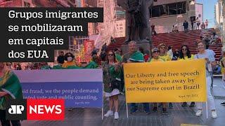 Brasileiros protestam em cidades norte-americanas no 7 de setembro