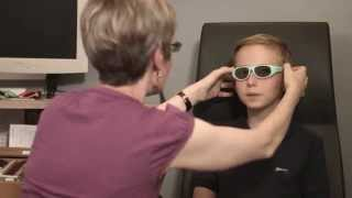 A child's eye examination: a visit to the optometrist video