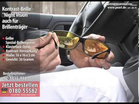 Kontrast-Brille Night Vision auch für Brillenträger (Nachtfahrbrille)