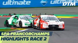Close hunt for the win - Rast vs Müller | Highlights Race 2 | DTM Spa-Francorchamps 2020