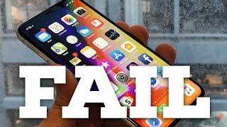 iPhone X — FAIL!