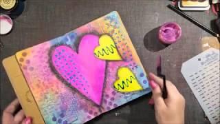 Good Heart...Good Heart...Art Journal Page.. Mixed Media