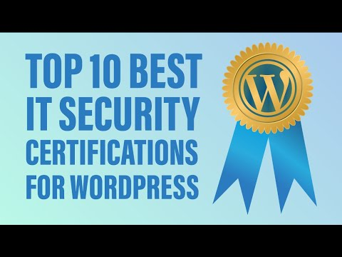 Top 10 Best IT Security Certifications for WordPress - YouTube