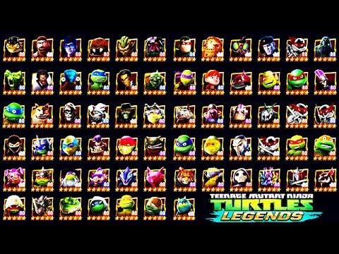 TMNT Legends - All Characters (67) Unlocked (Mutanimals)