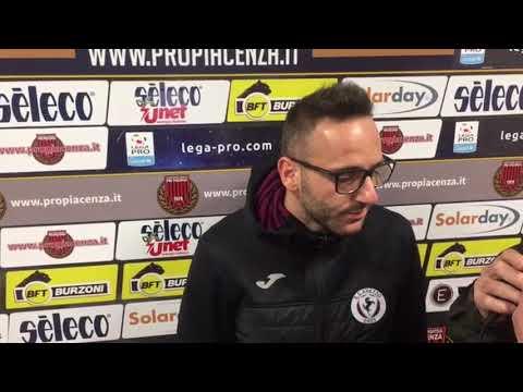 Pro Piacenza-Arezzo 2-1, intervista a Nello Cutolo