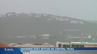 Saharan dust in central Texas: When will the haze go on its way?
