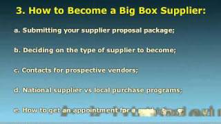 Getting Your Products into the Big Box Retailers... NOW!