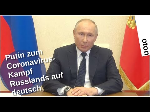 Putin zum Coronavirus-Kampf Russlands auf deutsch [Video]
