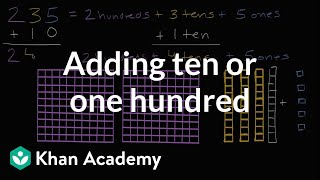 Adding Ten Or One Hundred | Addition And Subtraction Within 100 | Early Math | Khan Academy